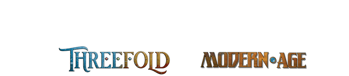 Modern AGE RPG and Threefold logos